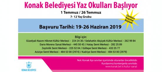 Yaz Okulu başvuru tarihi: 19-26 Haziran 2019