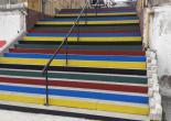 Mithatpaşa Mahallesi 179 Sokak, Merdiven ve Tutamakları Yağlı Boya Çalışması