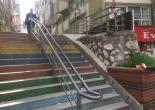 Altıntaş Mahallesi 348 Sokak, Merdiven Tutamakları Boya Çalışması