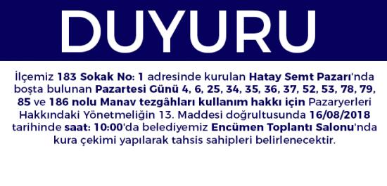 Pazaryeri Duyurusu