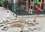 Yeşiltepe Mahallesi Konak Subay Orduevi Bahçesinde Zarar Görmüş Parke Taşları Düzenleme/Yenileme Çalışması