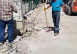 Alsancak Mahallesi 1472 Sokakta Gerçekleştirilen Kaldırım Yenileme Çalışması