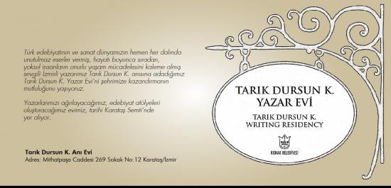 İzmir'in ilk Yazar Evi