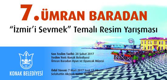 "7. Ümran Baradan ""İzmir'i Sevmek"" Temalı Resim Yarışması"