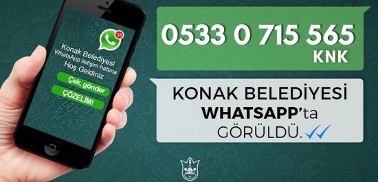 Konak Belediyesi Whatsapp'ta